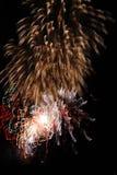 Feuerwerke der großen Höhe ab 2012 in Berlin, Deutschland Lizenzfreies Stockfoto