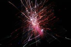 Feuerwerke der großen Höhe ab 2012 in Berlin, Deutschland Lizenzfreies Stockbild