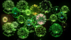 Feuerwerke der Mehrfachverbindungsstelle 4K Schöne bunte große firecrakers 3d Animation, verschiedene Versionen 18 stock footage