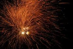 Feuerwerke in der Nacht Lizenzfreie Stockfotografie