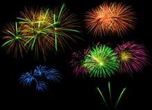 Feuerwerke in der Nacht Stockfotografie