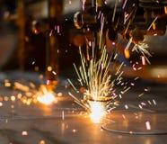 Feuerwerke des Gasausschnitts CNC LPG Stockbilder