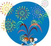 Feuerwerke des midsummer-2 Stockfoto