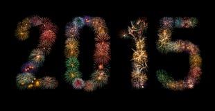 Feuerwerke des neuen Jahr-2015 Stockfotos
