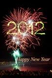 Feuerwerke des neuen Jahres 2012 Stockbild