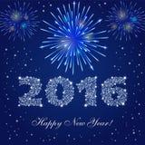 Feuerwerke des neuen Jahres Stockfoto