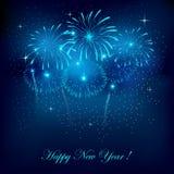 Feuerwerke des neuen Jahres stock abbildung