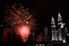 2016 Feuerwerke des neuen Jahres Stockfotos