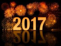 Feuerwerke des neuen Jahres Lizenzfreies Stockfoto