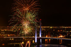 Feuerwerke des neuen Jahres Stockfotos