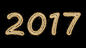 Feuerwerke des neuen Jahres 2017 Stockfoto