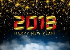 Feuerwerke des neuen Jahres Weihnachtszaubersterne und -wolke des nächtlichen Himmels Glänzender Steigungs-Umwelt-Raum Abstrakte  Lizenzfreies Stockbild