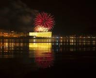 Feuerwerke in Donostia, Gipuzkoa Stockfoto
