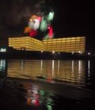 Feuerwerke in Donostia, Gipuzkoa Lizenzfreie Stockfotografie