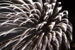 Feuerwerke - einzelnes Shell Stockfoto
