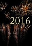 Feuerwerke für 2016 Stockbilder