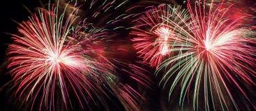 Feuerwerke für Kanada-Tag Lizenzfreie Stockfotos