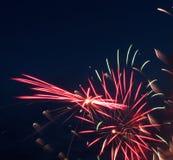 Feuerwerke für Kanada-Tag Lizenzfreies Stockbild
