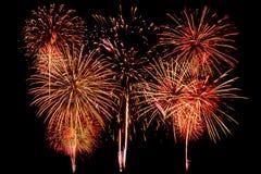 Feuerwerke Feier- und Jahrestagshintergrund Stockfotografie