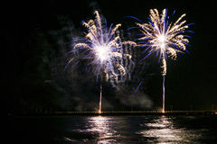 Feuerwerke in Forte dei Marmi Stockfotografie