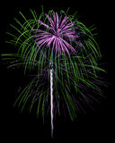 Feuerwerke getrennt Stockfotografie
