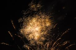 Feuerwerke hageln heftig Lizenzfreie Stockfotografie