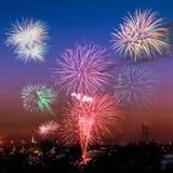 Feuerwerke in Halifax Stockfotos