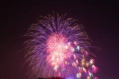 Feuerwerke in Hanoi Stockbild