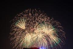 Feuerwerke in Hanoi Lizenzfreies Stockfoto