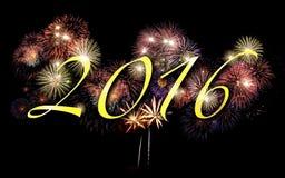 2016 Feuerwerke Hintergrund, Partei Lizenzfreies Stockbild