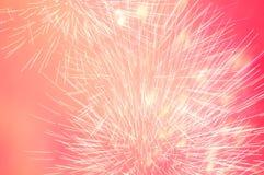 Feuerwerke im Abendhimmel Lizenzfreie Stockfotografie