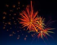 Feuerwerke im Himmel Stockbild
