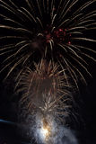 Feuerwerke im Himmel Lizenzfreies Stockfoto