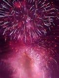 Feuerwerke im Himmel Lizenzfreie Stockfotografie