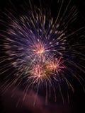 Feuerwerke im nächtlichen Himmel Stockfoto