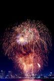 Feuerwerke International Fastival Stockbild
