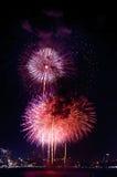 Feuerwerke International Fastival Lizenzfreies Stockfoto