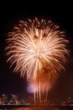 Feuerwerke International Fastival Lizenzfreie Stockfotos