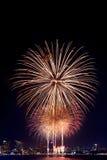 Feuerwerke International Fastival Stockfoto