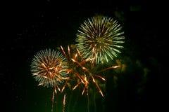 Feuerwerke in Japan   Lizenzfreie Stockbilder