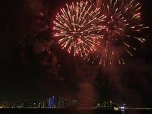 Feuerwerke in Katar Lizenzfreie Stockfotografie