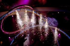 Feuerwerke am Konzert Stockbilder