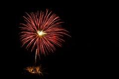Feuerwerke leuchten dem Himmel Stockfoto
