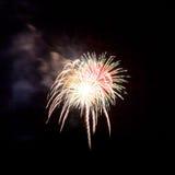 Feuerwerke leuchten dem Himmel stockfotografie