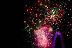 Feuerwerke in London Stockfotografie