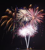 Feuerwerke am Marine-Pier, zum 2017 zu begrüßen Stockfotos