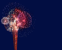 Feuerwerke mit Copyspace Lizenzfreie Stockbilder