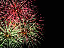 Feuerwerke mit copyspace Stockfotografie