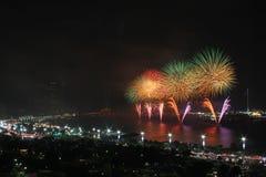 Feuerwerke mit Farbe Stockfoto