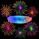 Feuerwerke mit Textplatz Lizenzfreie Stockfotografie